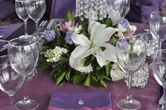 Party table and centerpiece Stock Photography
