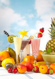 Party table with fruits Stock Image