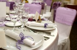 Party table setting. Party or special event table setting stock image