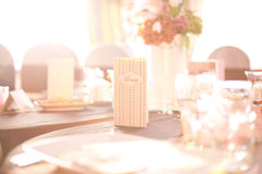 Party table setting Stock Photo