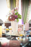 Party table setting. On a borthday Stock Photo