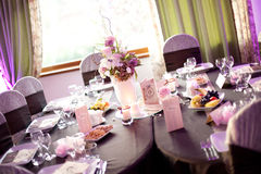 Party table setting. On a birthday Royalty Free Stock Images