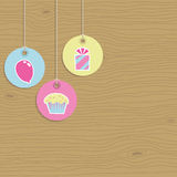 Party tags Royalty Free Stock Images