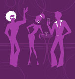 Party Talk. Men and the girl easy Talk on a party. The stylised silhouettes Royalty Free Stock Images