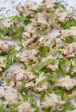 Party tarts chicken salad Royalty Free Stock Photography
