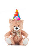 Party Teddy bear on white Royalty Free Stock Photos