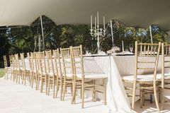 Party Tent Chairs Tables Decor Royalty Free Stock Images