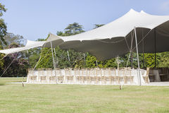 Party Tent Chairs Tables Decor Stock Photo