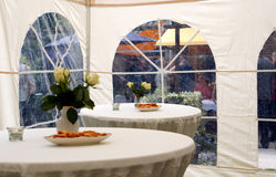 Party tent in garden 2 Stock Photo