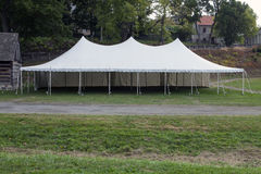Party Tent. A large party pole tent used for events Royalty Free Stock Photos