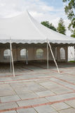 Party Tent. Tent in the process of being set up for an event Royalty Free Stock Photos