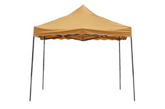 Party tent on white background. Orange party tent on white background Royalty Free Stock Photos