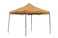 Party tent on white background. Orange party tent on white background Royalty Free Stock Image