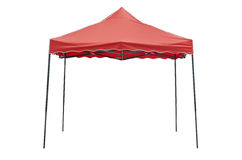 Party tent on white background. Red party tent on white background Royalty Free Stock Photo