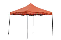 Party tent on white background. Red party tent on white background Stock Photos