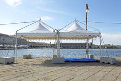 Party Tent. White Canopy Tent for Party and Exibition Event Royalty Free Stock Photography