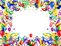 Party Theme Frame Stock Image