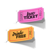Party tickets. Vector illustration of a party tickets Royalty Free Stock Photography