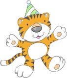 Party-Tiger-Vektor lizenzfreie abbildung