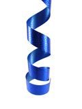 Party time. Blue party decoration ribbon hanging from top Stock Photos