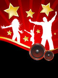 Party time. Party background with silhouettes of people dancing Royalty Free Stock Photography