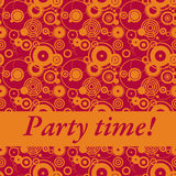 Party time!. Fancy and bright party time invitation in orange and red Stock Images
