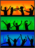 Party time. A crowd of people cheering at a concert Royalty Free Stock Photos