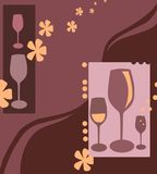 Party time. Illustration suitable for cards and backgrounds with space for writing royalty free illustration