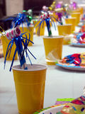 Party Time. Festive table background crisp colors Stock Image