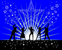 Party time. Vector illustration of dancing people Stock Images