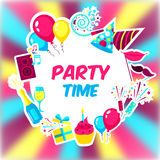 Party Time Background Stock Image