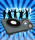 Party time. Party background with people dancing Stock Image