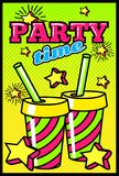 Party Time Comic Style Poster Royalty Free Stock Photo