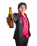 Party time after first day of work Royalty Free Stock Photo