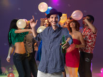 Party time with friends Stock Images