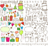 Party Time Hand Drawn Collection Royalty Free Stock Photography