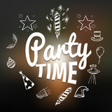 Party time with hand drawn elements, vector illustration Stock Image