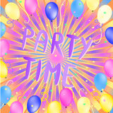 Party time illustration Stock Image