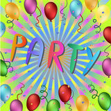 Party time illustration Stock Photography