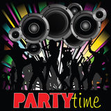 Party time illustration with young people Stock Images