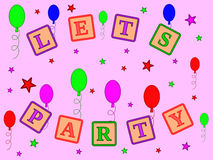 Lets Party stock images