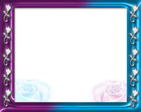 Party Time Invitation 4. Flower Frame and room for the text for invitation Royalty Free Stock Images