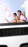 Party time in limousine Royalty Free Stock Photos