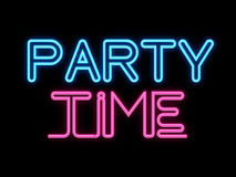 Party Time Neon Sign Stock Photos