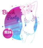 Party time poster Royalty Free Stock Image