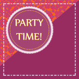 Party Time Print Pink Color, Copyspace. Cover Template, Party Time Print Pink Color, Copyspace Royalty Free Stock Images