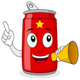 Party Time Red Soda Can & Megaphone royalty free stock images