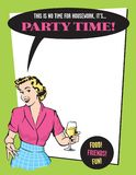 Party Time Retro Housewife Party Invitation stock illustration