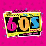 Party time The 60s style label. Vector illustration. Party time The 60s style label. Vector illustration retro background Royalty Free Stock Photos