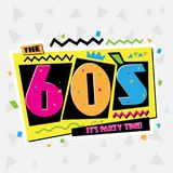 Party time The 60s style label. Vector illustration. Party time The 60s style label. Vector illustration retro background royalty free illustration